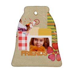 Friends By Joely   Bell Ornament (two Sides)   Ygs965q8ew3j   Www Artscow Com Front
