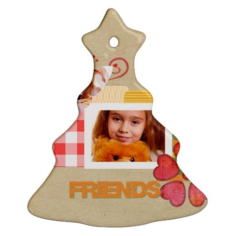 Friends By Joely   Ornament (christmas Tree)    4nvhqv87ysth   Www Artscow Com Front