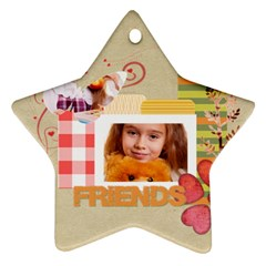 Friends By Joely   Star Ornament (two Sides)   S654dbx8cx2p   Www Artscow Com Front