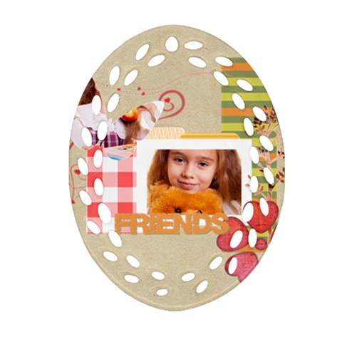 Friends By Joely   Ornament (oval Filigree)   Ypd4ugv1axdm   Www Artscow Com Front