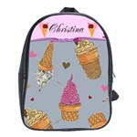 Ice Cream Book Bag Large - School Bag (Large)