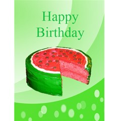 Watermelon Cake Birthday Card By Kim Blair   Greeting Card 4 5  X 6    D7p2wdnxv7lh   Www Artscow Com Front Cover