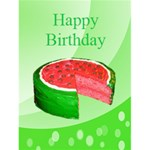 Watermelon Cake Birthday Card - Greeting Card 4.5  x 6
