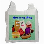 Food Grocery recycle Bag two sides - Recycle Bag (Two Side)