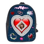Lace heart school bag large - School Bag (Large)