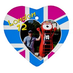 London Heart Ornament (2 Sided) By Deborah   Heart Ornament (two Sides)   1d9rgx7heksf   Www Artscow Com Front