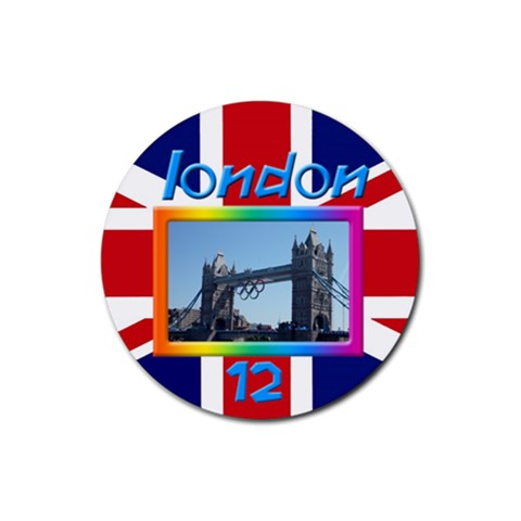 London 12 Coaster By Deborah   Rubber Coaster (round)   Bhpufif1l50u   Www Artscow Com Front