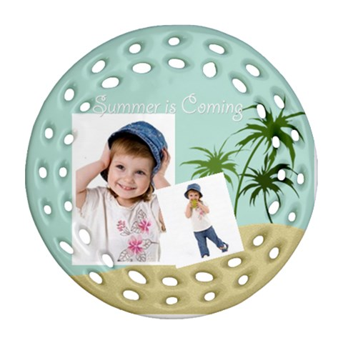 Summer By Wood Johnson   Ornament (round Filigree)   Dutjg739r57c   Www Artscow Com Front