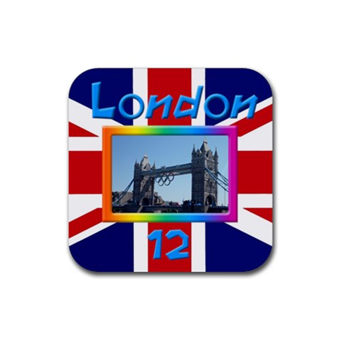London 12 Coaster By Deborah   Rubber Coaster (square)   Rwtdzkccread   Www Artscow Com Front
