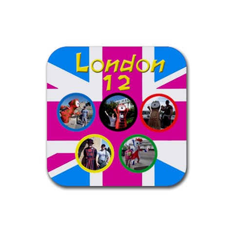 My London Coaster By Deborah   Rubber Coaster (square)   Qs9rozwd7nh9   Www Artscow Com Front