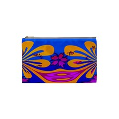 Cosmetic Bag Pinkorangetulip By Adrian   Cosmetic Bag (small)   L10gn03ypngp   Www Artscow Com Front