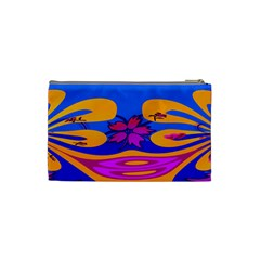 Cosmetic Bag Pinkorangetulip By Adrian   Cosmetic Bag (small)   L10gn03ypngp   Www Artscow Com Back