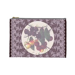 Cherry Jubilee Large Cosmetic Case by Leandra Jordan Front