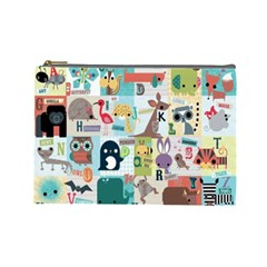 Abc Large Cosmetic Case By Leandra Jordan   Cosmetic Bag (large)   Xmpyc2xgjar1   Www Artscow Com Front