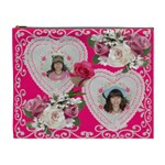 Hearts and Roses Cosmetic Bag (XL)