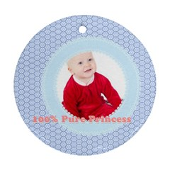 Baby By May   Round Ornament (two Sides)   R8wczl3nw6ev   Www Artscow Com Front