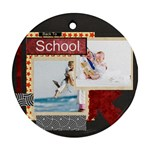 back to school - Round Ornament (Two Sides)