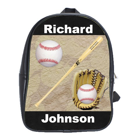 Baseball book bag by Kim Blair Front
