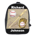 Baseball book bag - School Bag (Large)