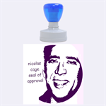 the nicolas cage seal of approval - Rubber Stamp Round (Large)