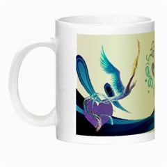 Mystical Bird Mug By Kimmy   Night Luminous Mug   Aimqsydxa1me   Www Artscow Com Left