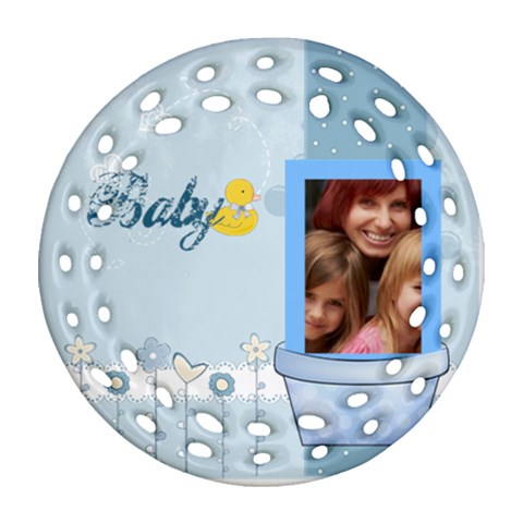 Baby By Jacob   Ornament (round Filigree)   Sp1punvrf4w4   Www Artscow Com Front