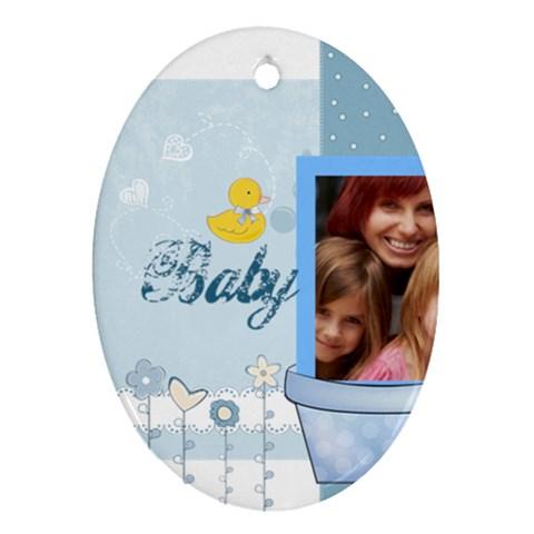 Baby By Jacob   Ornament (oval)   Zt7zu8e7jesq   Www Artscow Com Front