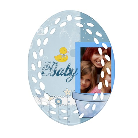 Baby By Jacob   Ornament (oval Filigree)   Xhkjxm3zvt6i   Www Artscow Com Front