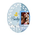 baby - Oval Filigree Ornament (Two Sides)