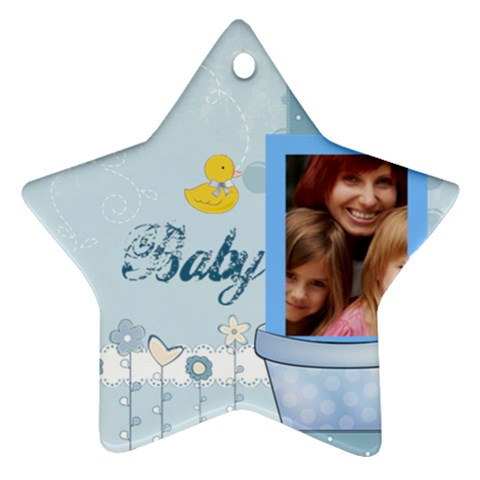 Baby By Jacob   Ornament (star)   Rt1q3b0ngj6w   Www Artscow Com Front