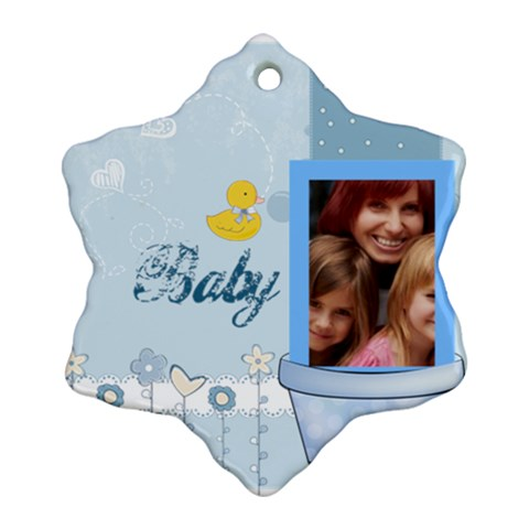 Baby By Jacob   Ornament (snowflake)   5siq5brhr78v   Www Artscow Com Front