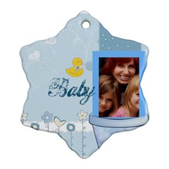 Baby By Jacob   Snowflake Ornament (two Sides)   Yd4n3a2oqltf   Www Artscow Com Back
