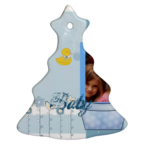 Baby By Jacob   Ornament (christmas Tree)    1uwz3mtcz8xa   Www Artscow Com Front