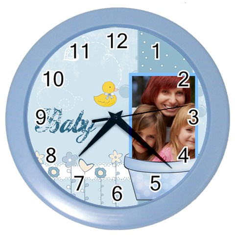 Baby By Jacob   Color Wall Clock   95t1178s7mby   Www Artscow Com Front