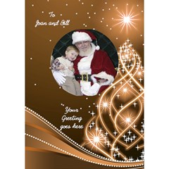 Christmas 3D Circle Card (7x5) 2 by Deborah Inside