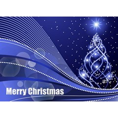 Christmas 3d Circle Card (7x5) 3 By Deborah   Circle 3d Greeting Card (7x5)   Zj5qqcsf3zny   Www Artscow Com Front
