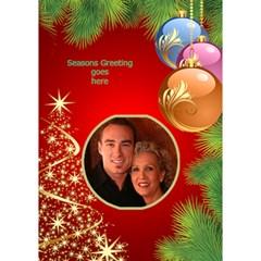 Seasons Greeting 3d Circle (7x5) Card 2 By Deborah   Circle Bottom 3d Greeting Card (7x5)   Qjh6d5ij7zhd   Www Artscow Com Inside