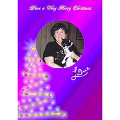 Varigated Purple Christmas Card By Missy    Circle 3d Greeting Card (7x5)   63lmn389htuq   Www Artscow Com Inside