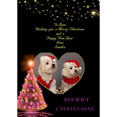 Merry Christmas 3d Card By Deborah   Heart Bottom 3d Greeting Card (7x5)   Ll0vs6h23a29   Www Artscow Com Inside