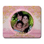 pink family mouse pad - Large Mousepad
