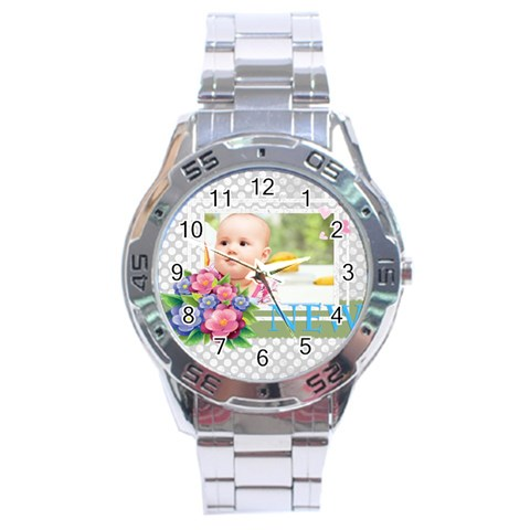 Baby By Joely   Stainless Steel Analogue Watch   Tjhj267vpwxt   Www Artscow Com Front
