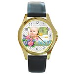 baby - Round Gold Metal Watch