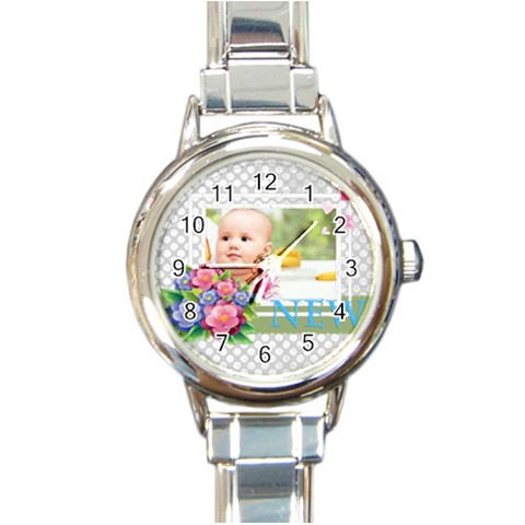 Baby By Joely   Round Italian Charm Watch   L083f0w20fyh   Www Artscow Com Front