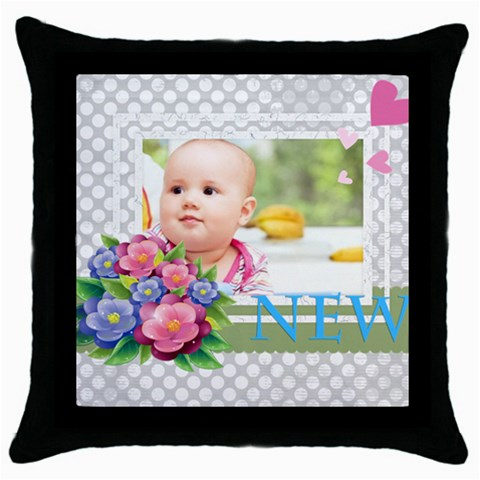 Baby By Joely   Throw Pillow Case (black)   112otw2d5q3y   Www Artscow Com Front