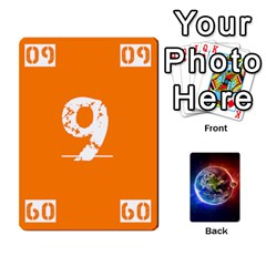 Numbers Deck   Purple(all) Orange(all) Red(8 0)   Textless Poker Deck By Mike   Playing Cards 54 Designs   Rdlhl25klzyq   Www Artscow Com Front - Diamond8