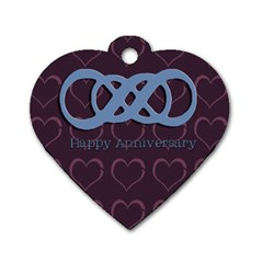 Anniversary Dog Tag By Patricia W   Dog Tag Heart (two Sides)   Bfz9fcqvjl2y   Www Artscow Com Back