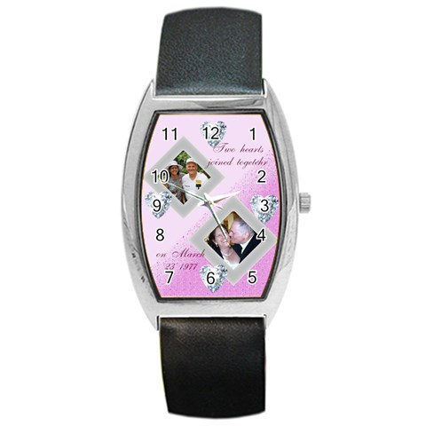 Anniversary Watch By Kim Blair   Barrel Style Metal Watch   Ddhgut875xe9   Www Artscow Com Front