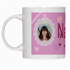 Nana White Mug By Kim Blair   White Mug   B5x66knv95dp   Www Artscow Com Left