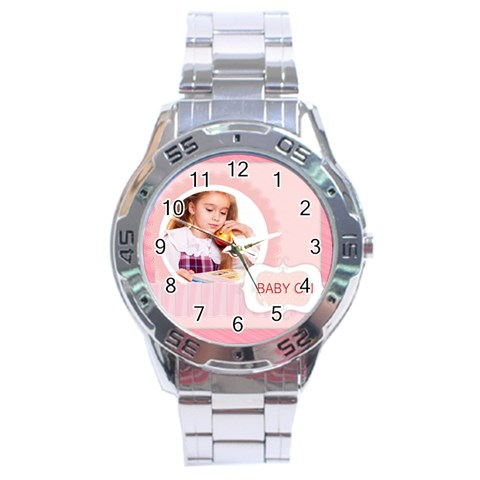 Baby Girl By Joely   Stainless Steel Analogue Watch   63d8w15jfk8k   Www Artscow Com Front