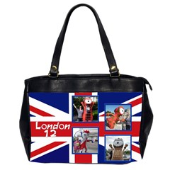 London 12 Oversize Office Bag (2 Sided) By Deborah   Oversize Office Handbag (2 Sides)   9nzr6di249zz   Www Artscow Com Front